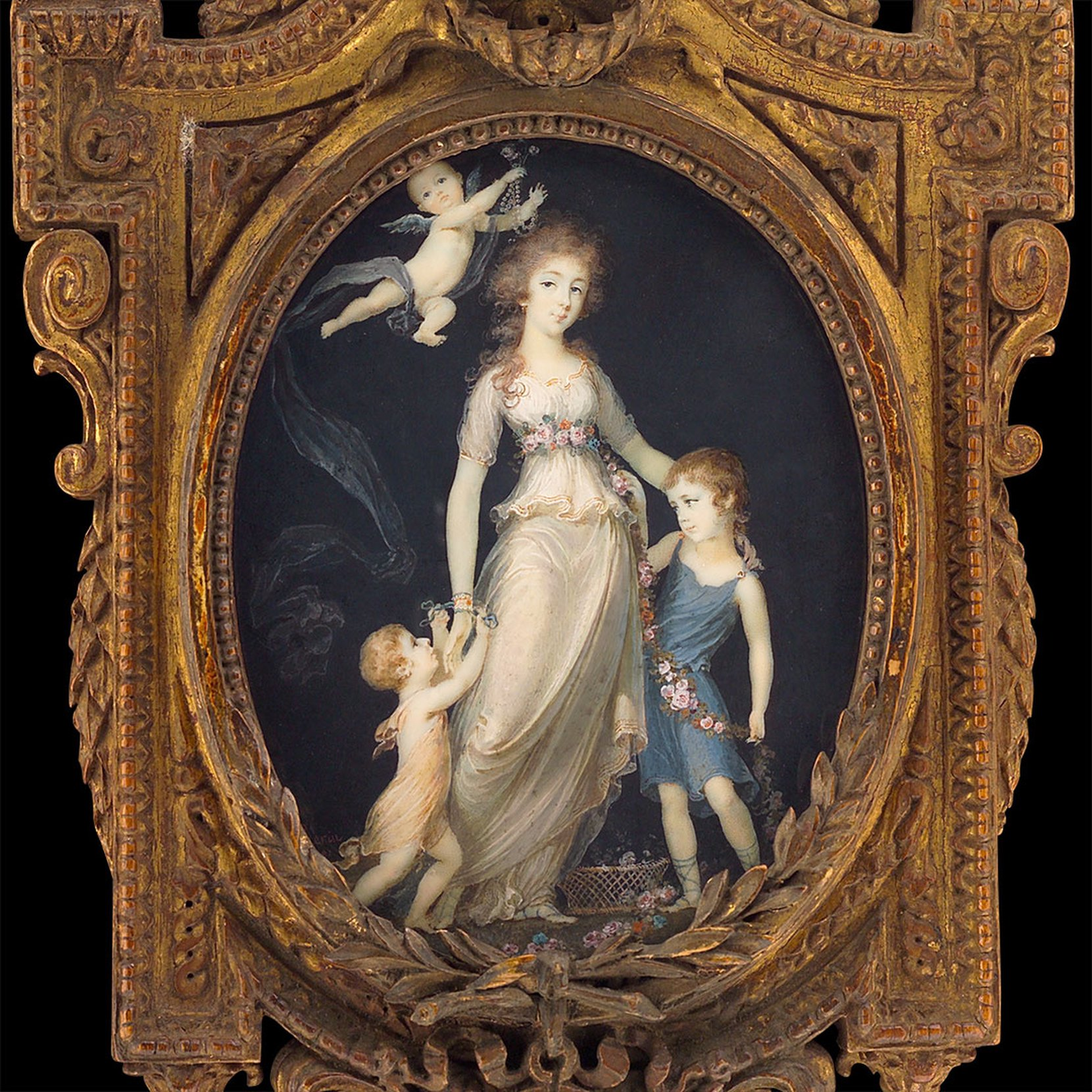 pauline of arenberg with her brothers -- jean urbain guérin art painting