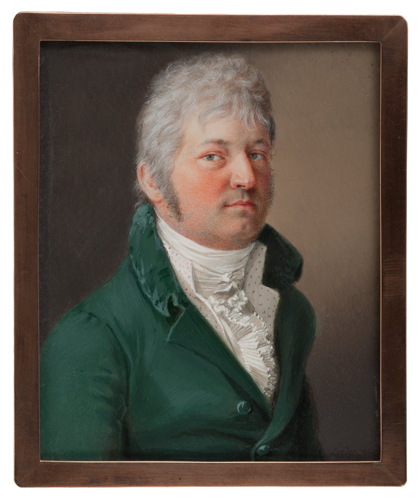 gentleman in a green coat -- friedrich johann gottlieb lieder art painting