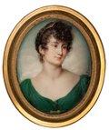 Lady in a Green Dress -- Jean Urbain Guérin