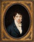 Gentleman in a Dark Blue Coat -- Etienne Charles Le Guay