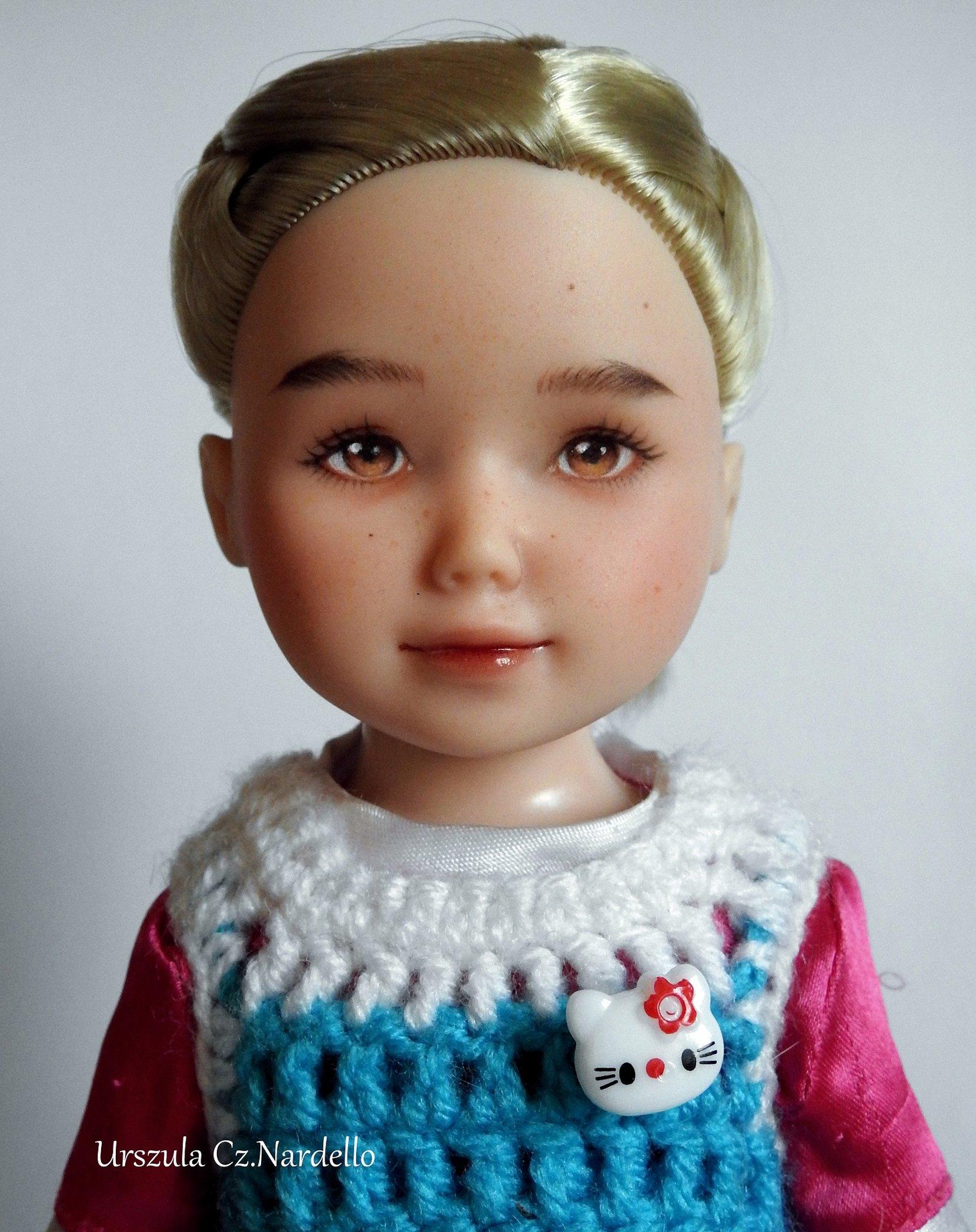jolina ooak doll art painting