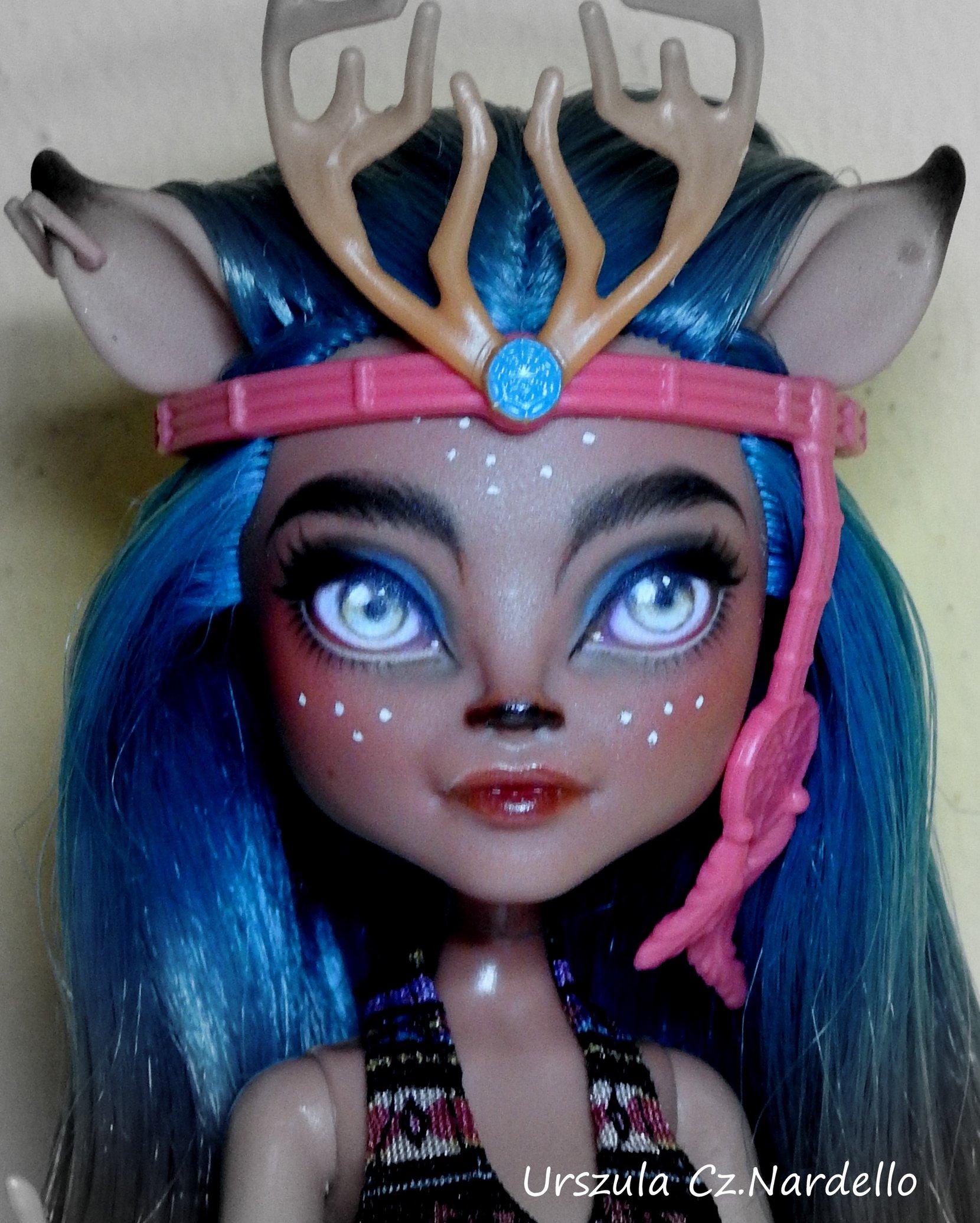 isi dawndancer -monster high repaint ooak doll art painting