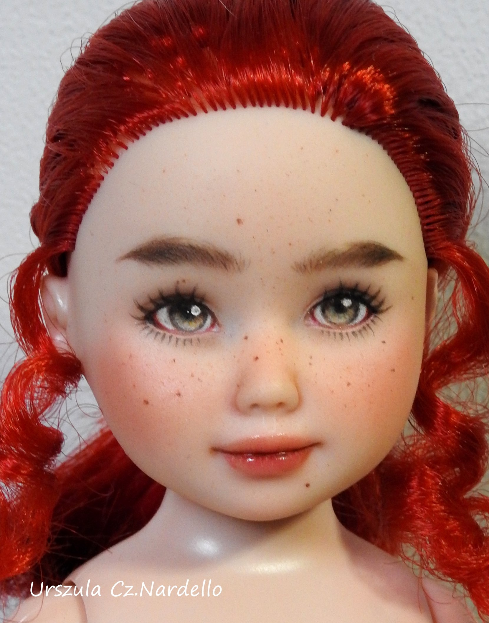 arielle-jolina ooak doll art painting