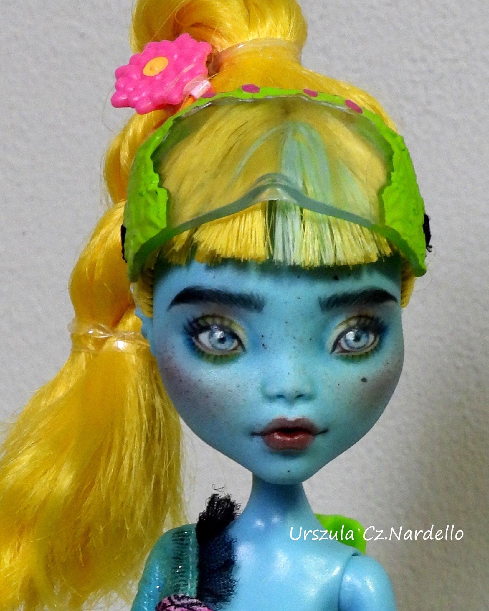 lagoona blue -monster high repaint ooak doll art painting