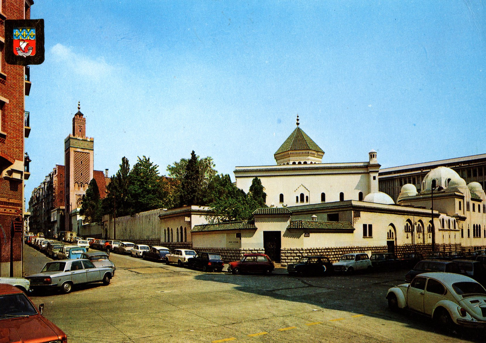 paris, the mosque (france) postcards standard – printed card