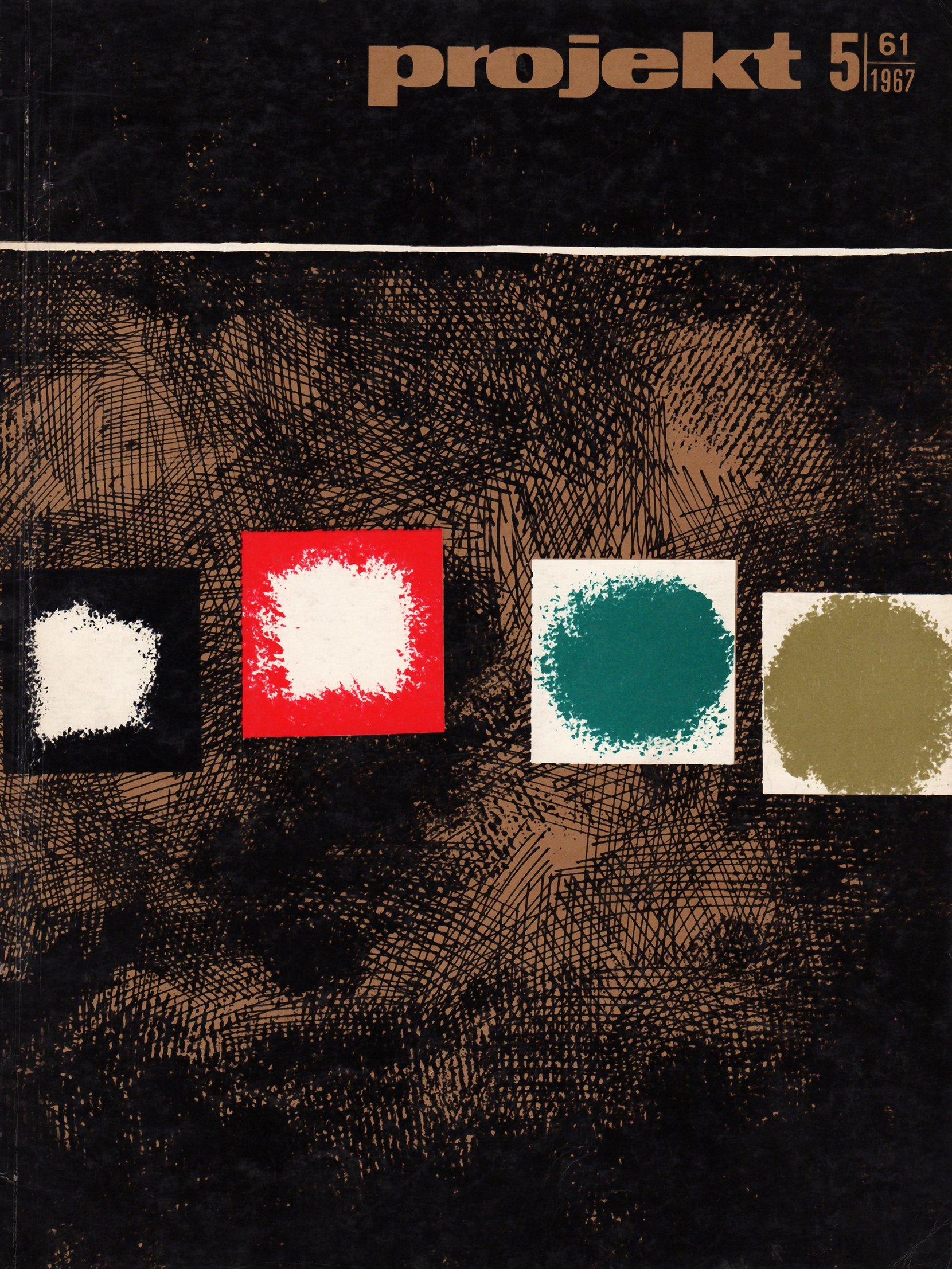 """projekt"" magazine, 1967-5 periodicals art & culture"