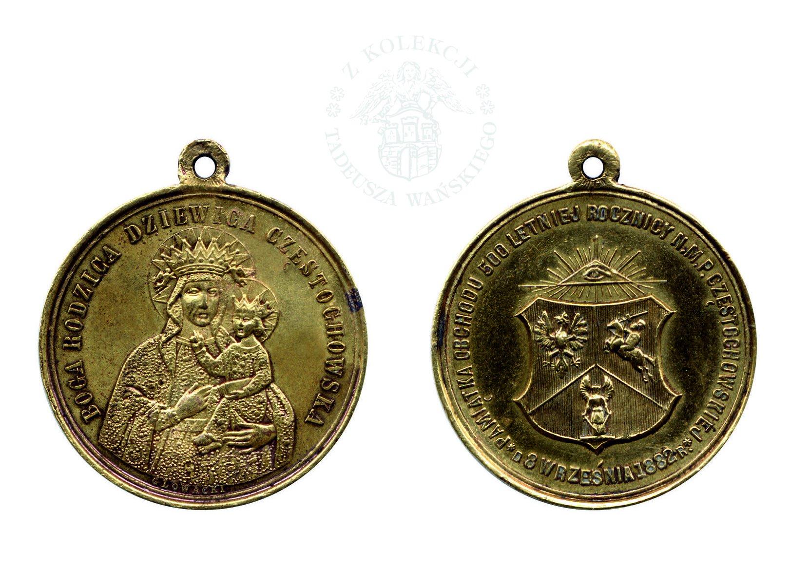 medalik - boga rodzica dziewica częstochowska numismatics coins