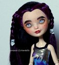 Raven -Ever After High/Monster High repaint OOAK doll