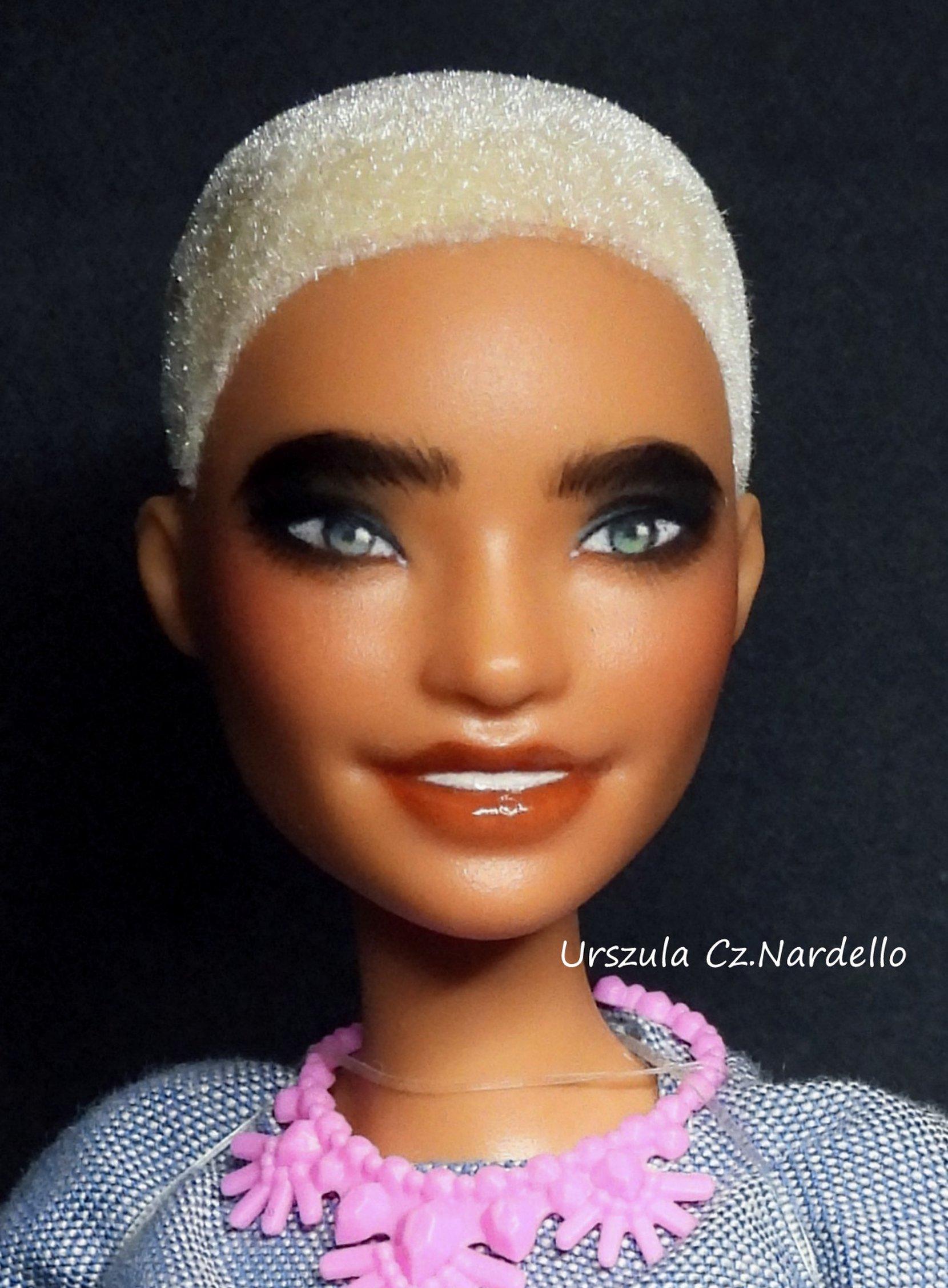 barbie - ooak repaint art painting