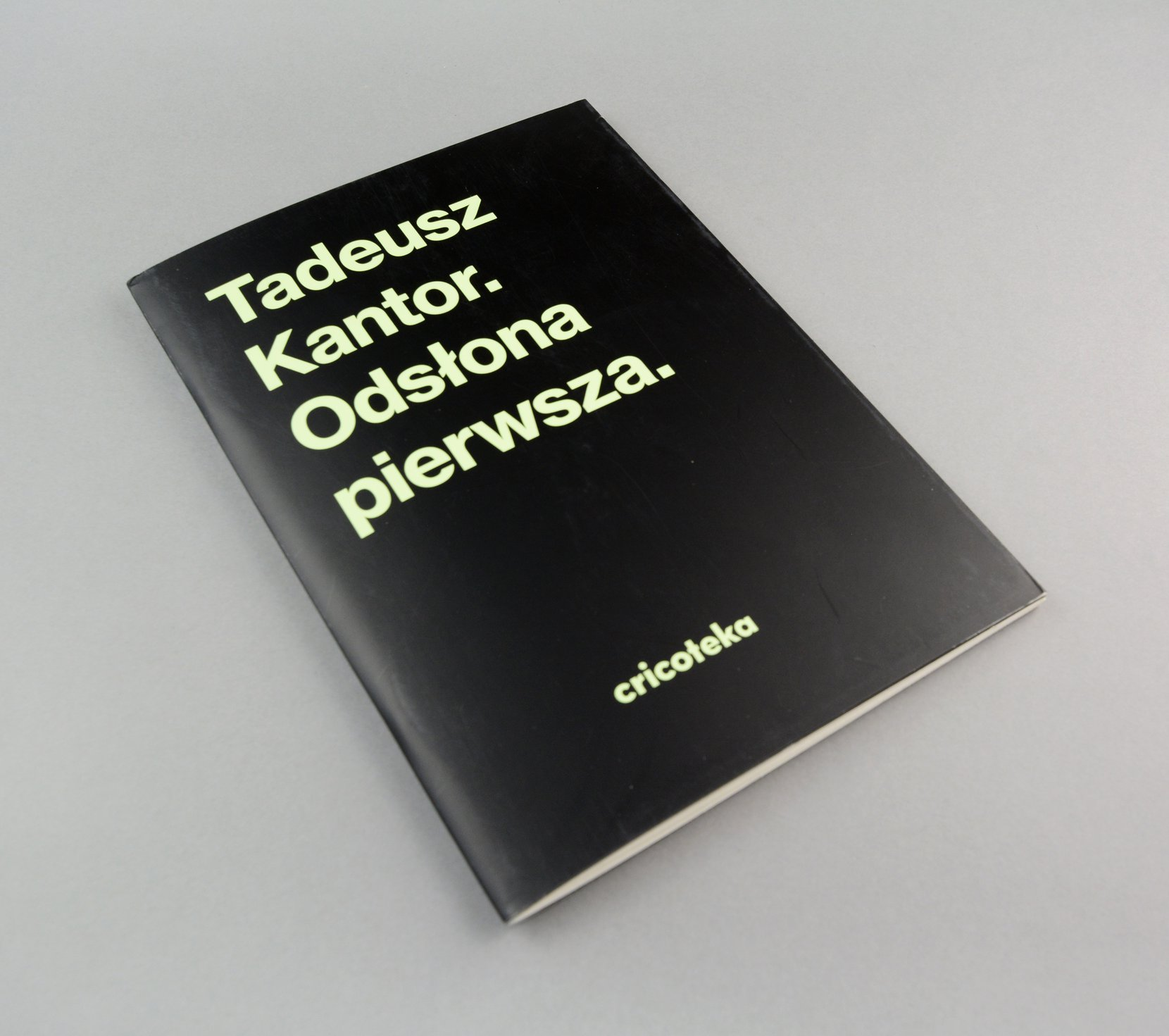 tadeusz kantor. odsłona pierwsza books art