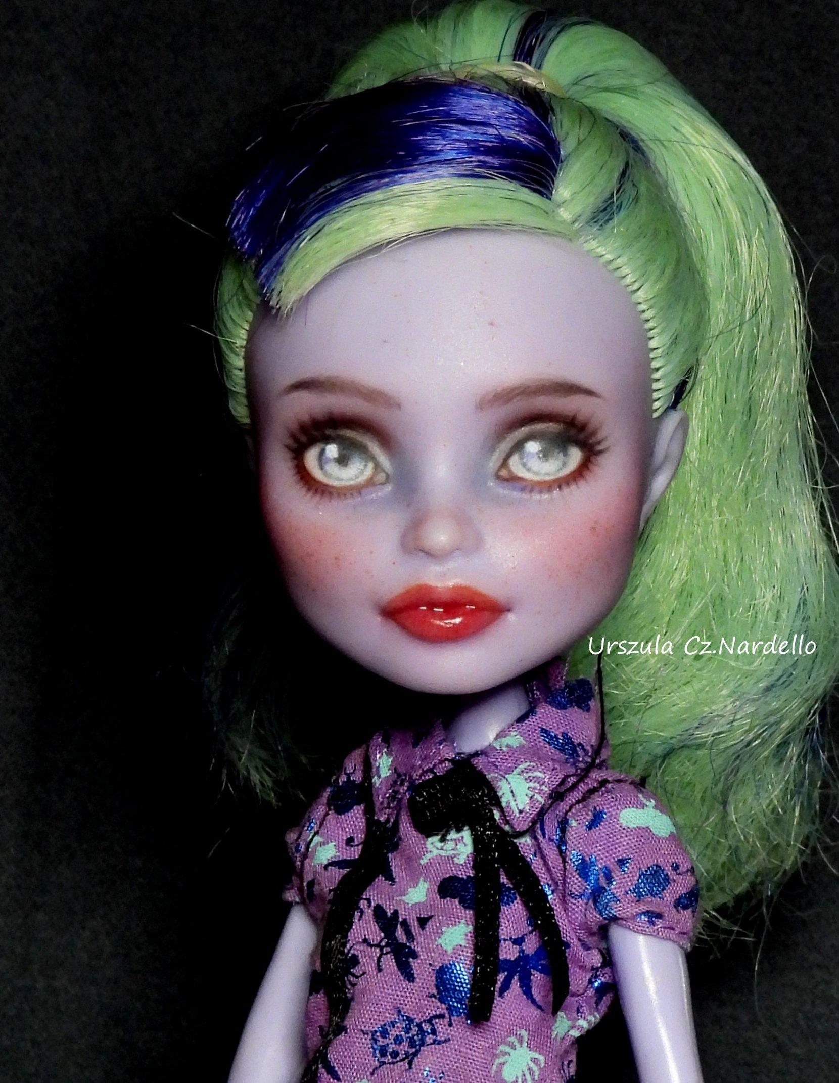 twyla -monster high repaint ooak doll art painting