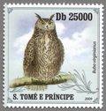 Bubo virginianus, S.Tome e Principe Stamp (2)