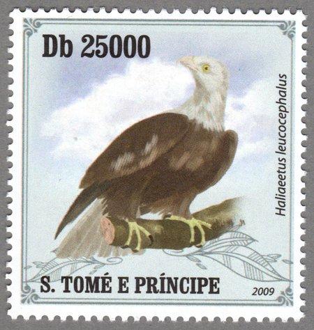 Haliaeetus leucocephalus, S.Tome e Principe Stamp (5)