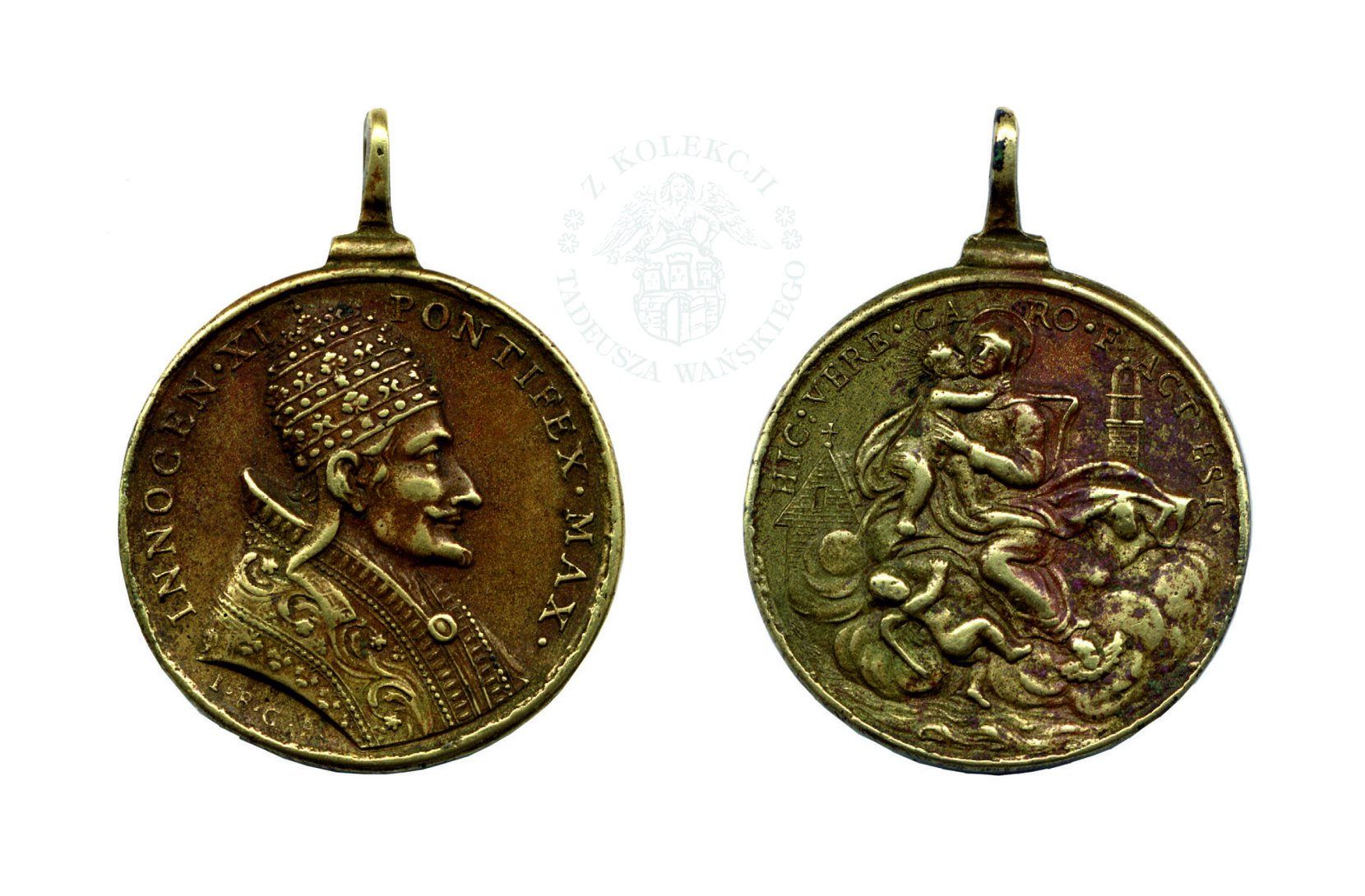medalik innocenty xi (xvii w.) numismatics coins