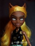 Clawdia Wolf -Monster High repaint OOAK doll