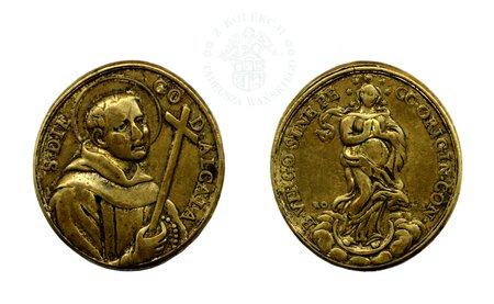 Medalik S. DIEGO de ALCALA (XVIII w.)
