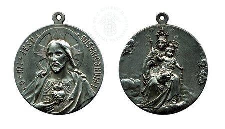 Medalik Serce Jezusa i Matka Boża Szkaplerzna