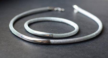 Silver necklace & bracelet