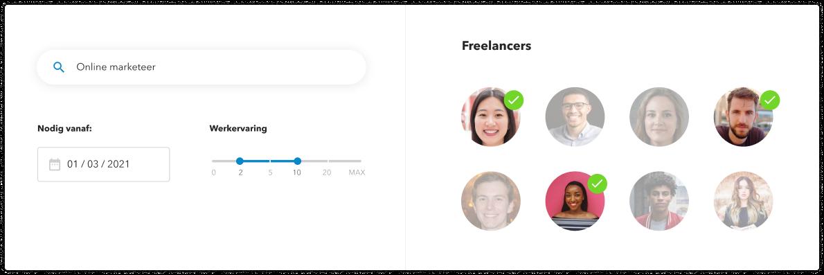 Een extra netwerk van ruim  freelancers