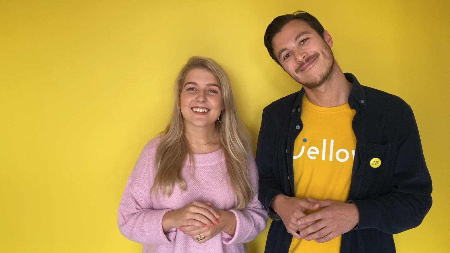 Image of happy Jellow team members