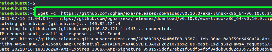 Exa – A modern replacement for ls command linux shell
