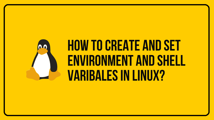 How To Set/Create Environment and Shell variables in Linux environment variables Linux Tutorials shell shell variables variable