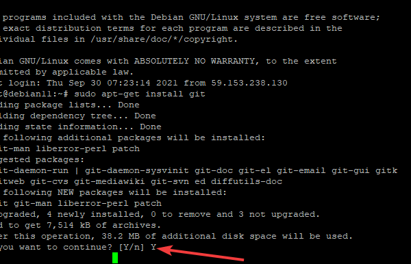 How to Install Git Version Control System on Debian 11 linux shell ubuntu