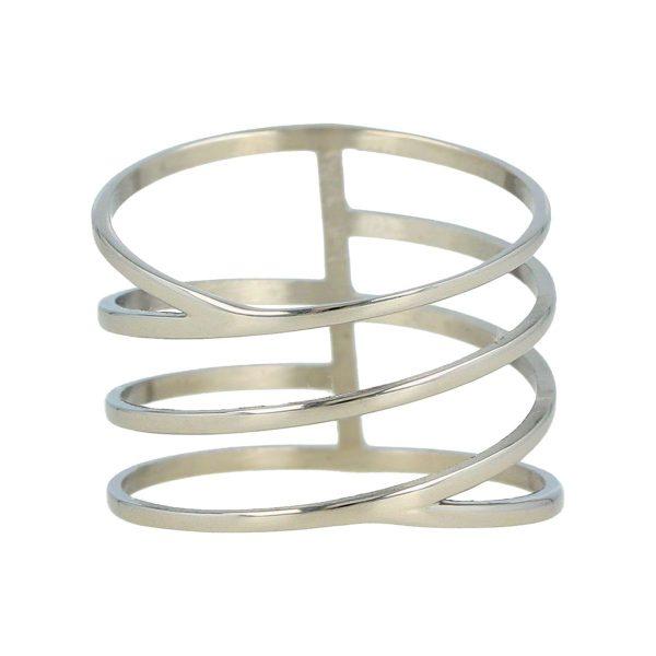 My Bendel Zilveren wrap ring met open bewerking