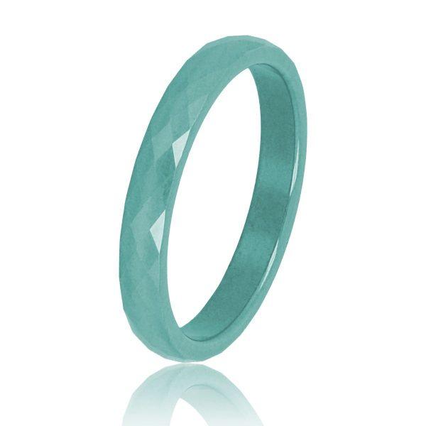 My Bendel Keramische diamant geslepen groene ring