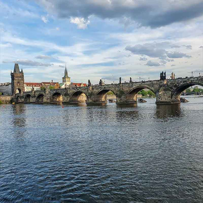 Prague bridge