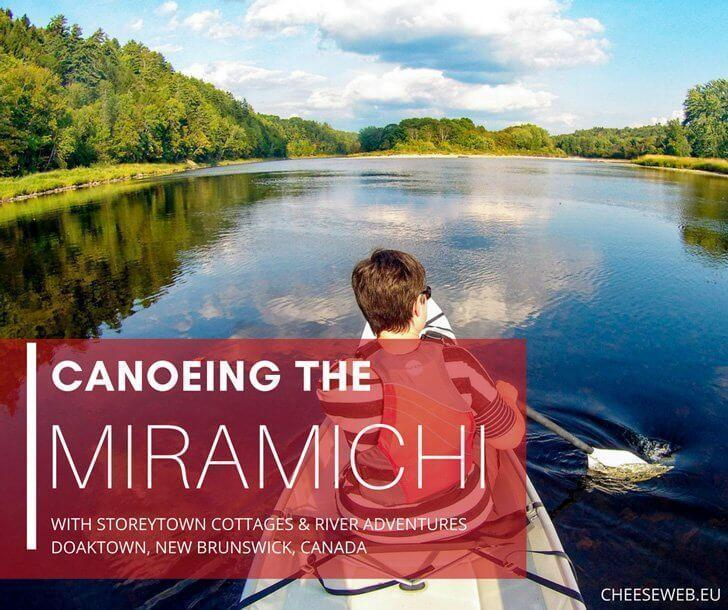 Canoeing the Miramichi River with Storeytown cottages, Doaktown, New Brunswick