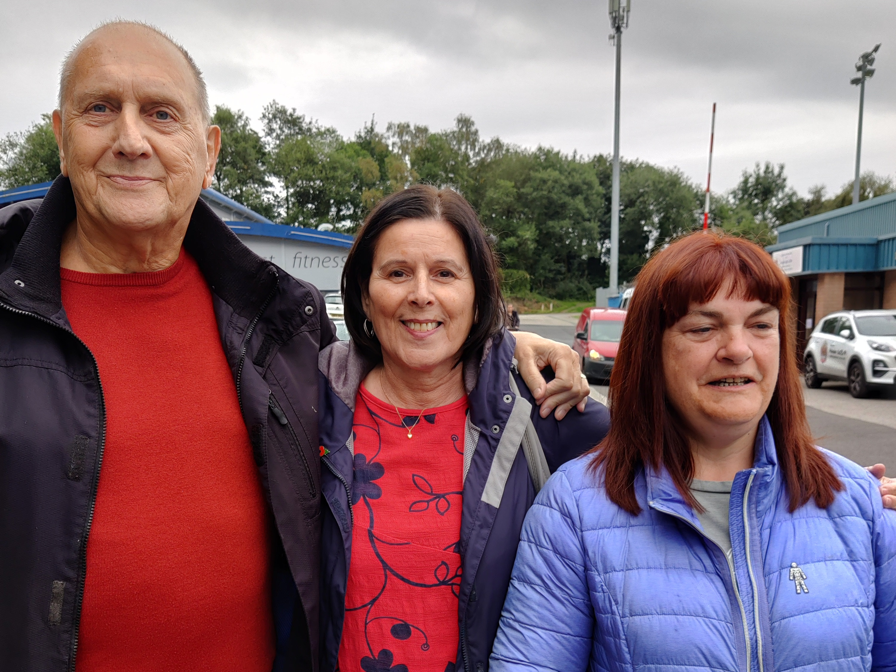Adrian and Ginny Alexander with Ros Birch