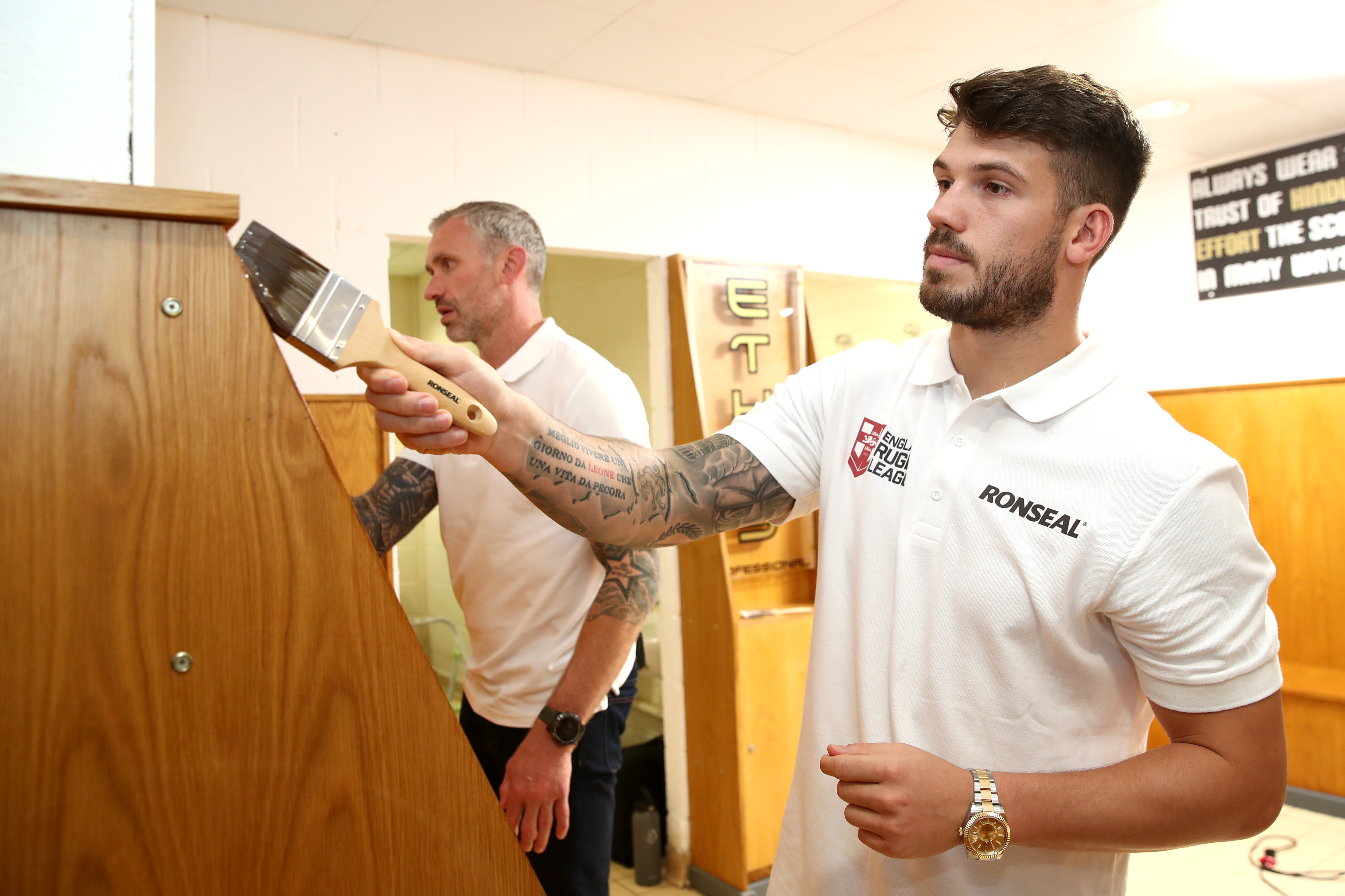 Jamie Peacock and Oliver Gildart