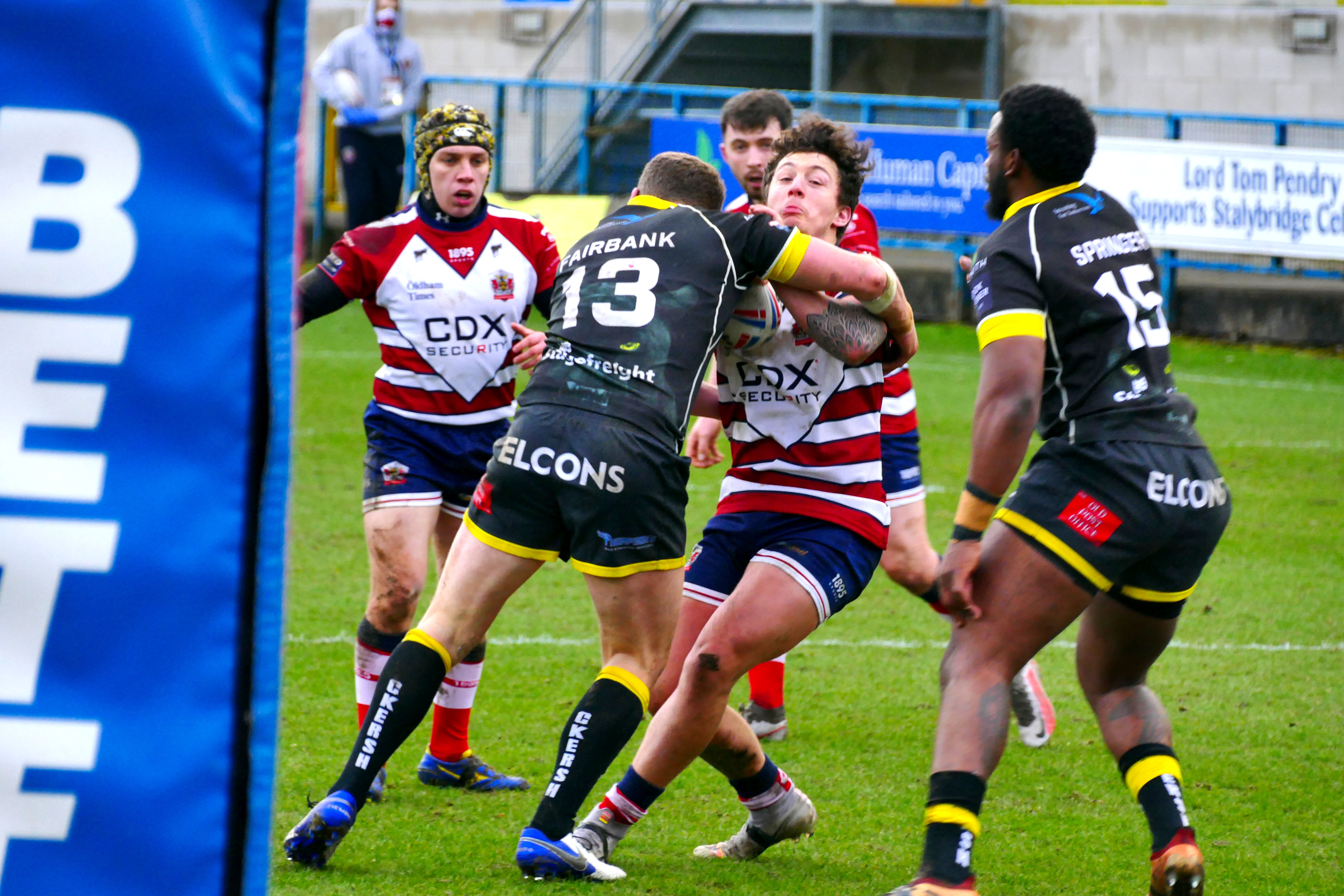 Joe in the thick of the action last season