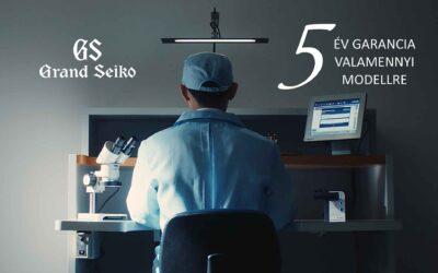 Mostantól 5 év garancia minden Grand Seiko modellre – a minőség kötelez
