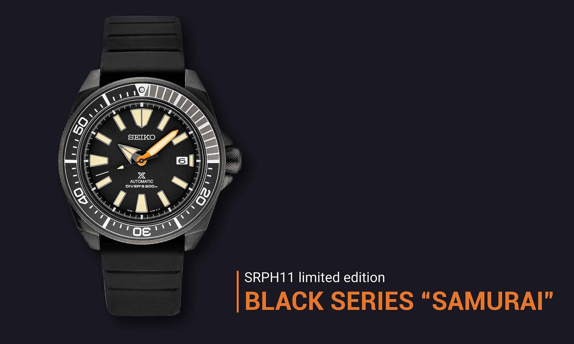 Seiko Prospex Black Series 2021 SRPH11 Samurai