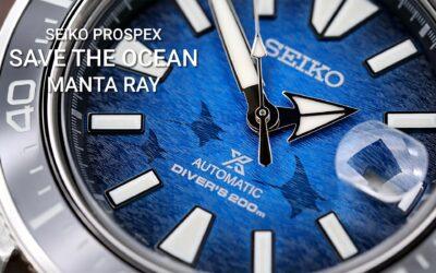 Seiko Prospex Save The Ocean Manta Ray modellek – lenyűgöző részletek