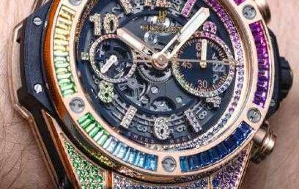 HUBLOT BIG BANG ONE CLICK RAINBOW KING GOLD 465.OX.9910.LR.0999 watch Replica