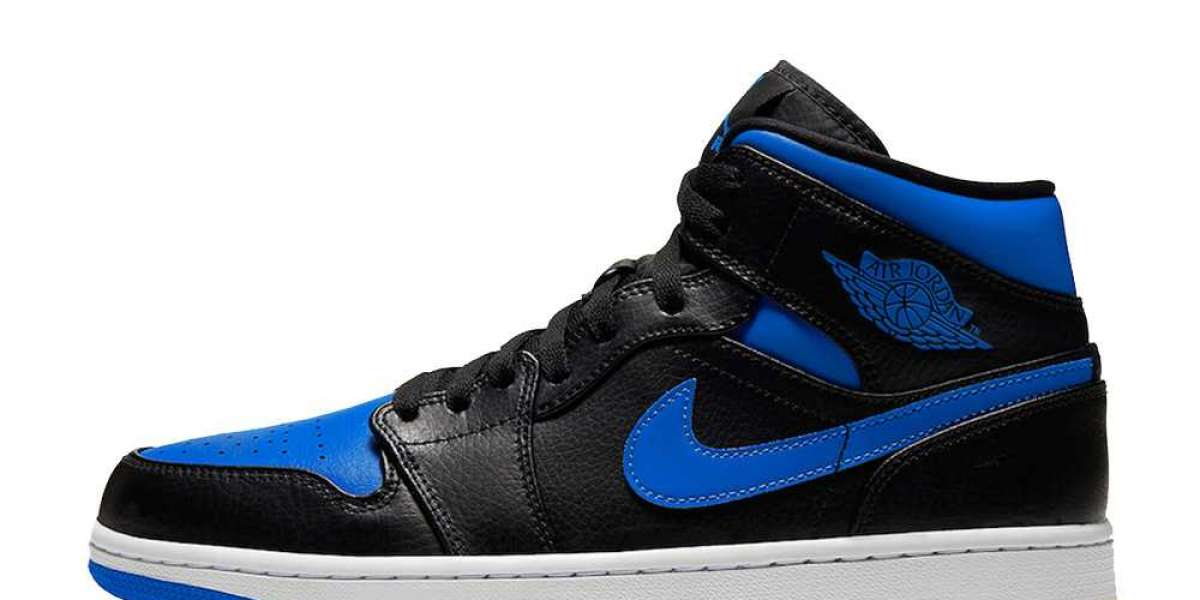 554724-068 Air Jordan 1 Mid Royal Blue
