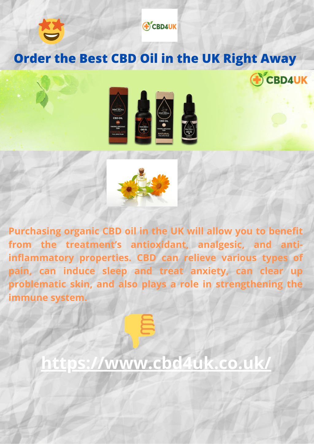 Order the Best CBD Oil in the UK Right Away