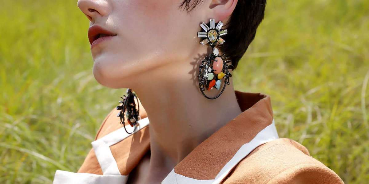 Acetate Flower Earrings