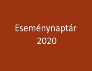 Eseménynaptár 2020 – helyszínekkel