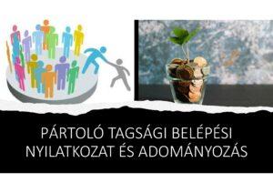 Pártoló tagság és adományozás