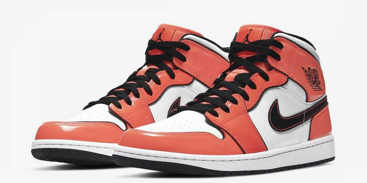 "DD6834-802 Nike Air Jordan 1 Mid ""Turf Orange"" Basketball Shoes Releasing Soon"